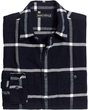 flannel shirt in tattersall